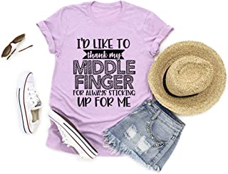 I'd like to thank my middle finger for always sticking up for me, Funny Shirt, Funny Graphic Tee, Sarcasm Top, Sassy Shirt