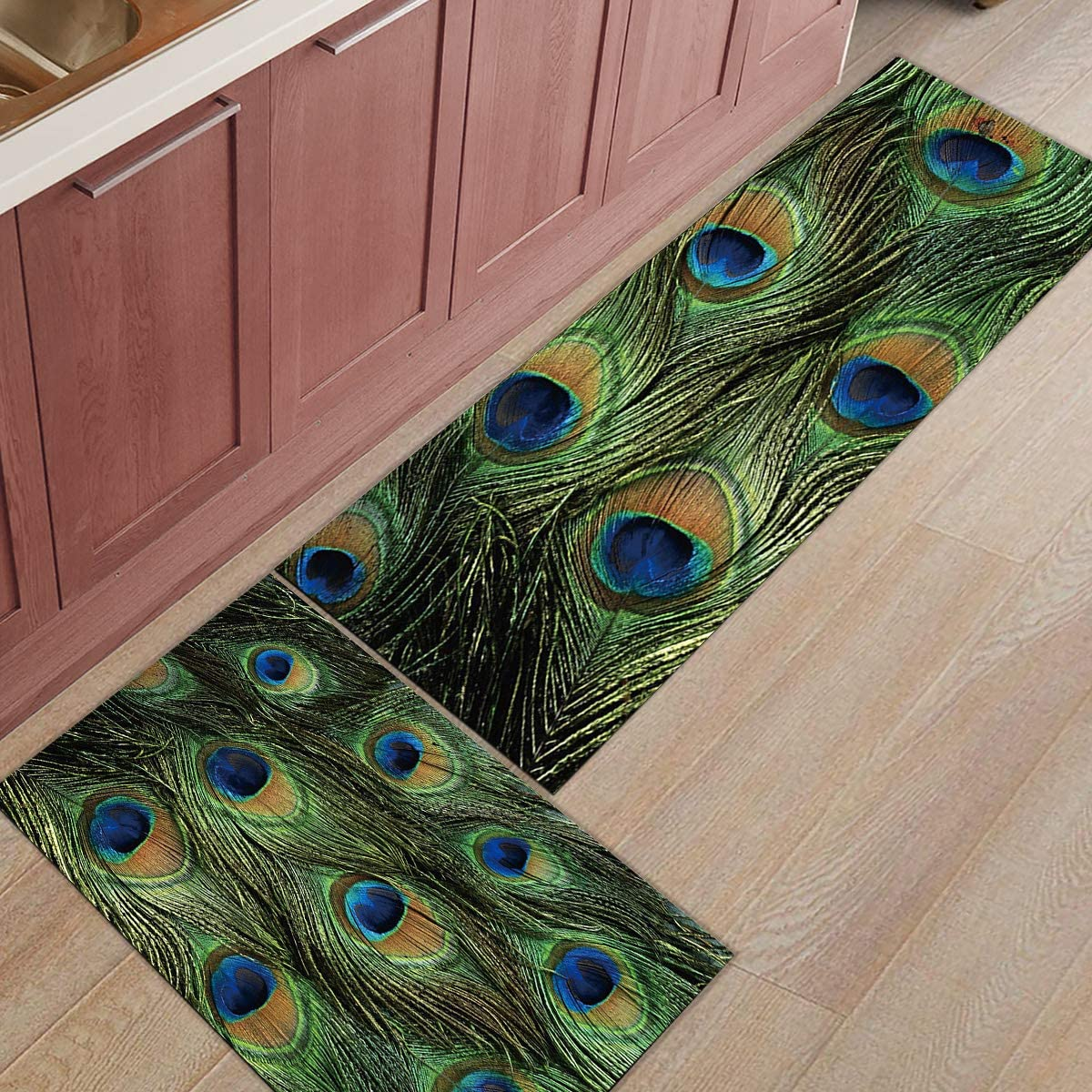 2 Pieces Kitchen Rug Set Non-Slip Backing Doormat Rugs Mat Throw Trust Ranking TOP10