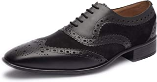 Missali | Genuine Leather Dress Shoes | Mens Wingtip Oxford Shoes | Leather Dress Shoes for Work | Wedding Shoes | Handcra...