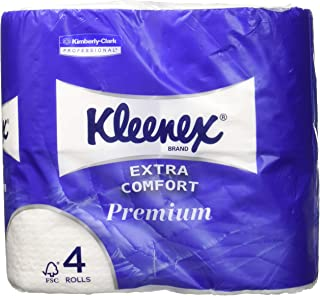 Kleenex Kimberly Clark 8484 - Papel de baño, 160 hojas, paquete de 4 rollos, blanco
