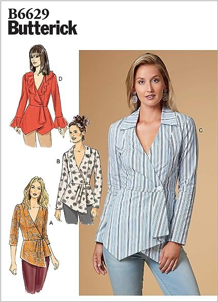 Butterick Patterns B6629E5 - Patrones de costura para camisas ...