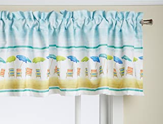 LORRAINE HOME FASHIONS St. Tropez Valance, 60-Inch by 16-Inch