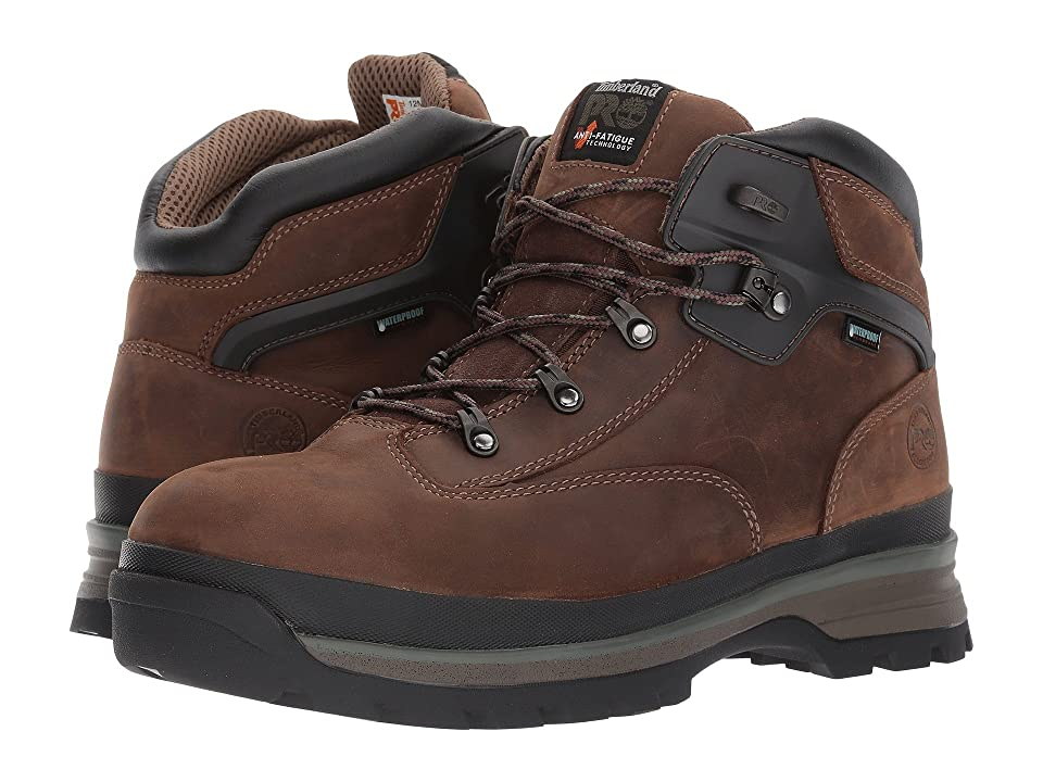 Timberland PRO Euro Hiker Alloy Safety Toe Waterproof (Brown Full Grain Leather) Men