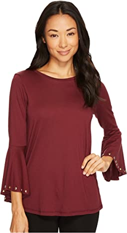 Hi-Low Flutter Sleeve Top