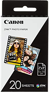 Canon Zink Sticky Backed Canon MPPP20 Mini Photo Printer Paper 20 Sheets, 1 (MPPP20)