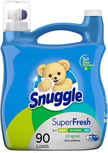 Snuggle Plus Super Fresh Liquid Fabric Softener with Odor Eliminating Technology 95 Fluid Ounces (Packaging May Vary)