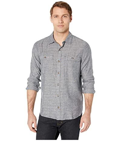 Toad&Co Taj Hemp Long Sleeve Shirt Slim (Blue Chambray) Men