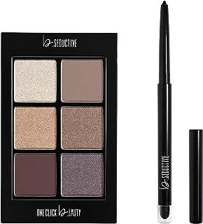 One Click Beauty b.SEDUCTIVE 2-Piece Eye Kit, Longwear Makeup, The Cool Nudes