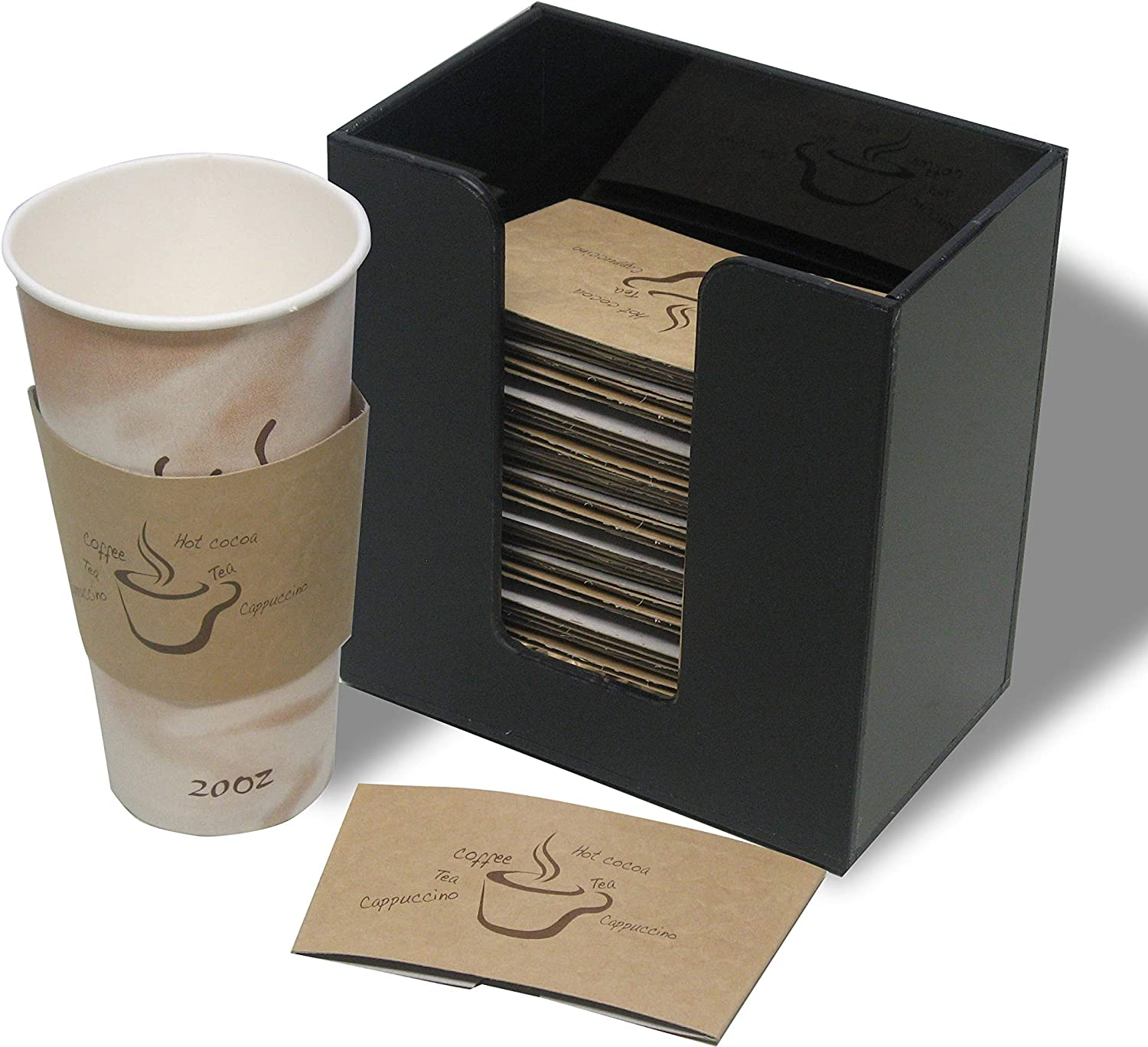 Spasm price Ranking TOP11 Coffee Cup Sleeve or Hot fo Holder Short Dispenser Organizer