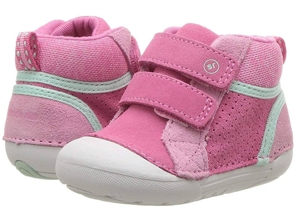 Stride Rite SM Milo (Infant/Toddler) (Pink Leather) Girls Shoes