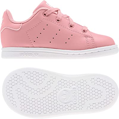 adidas Originals Kids Stan Smith EL (Toddler) (Glory Pink/White) Girl