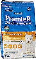 Ração Premier para Cães Filhotes de Raças Pequenas Ambientes Internos Sabor Frango e Salmão, 2,5kg Premier Pet Raça...