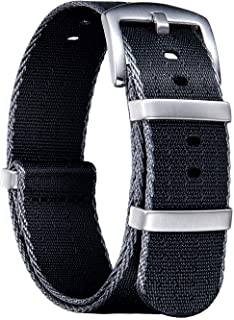 NATO Watch Straps Thick G10 Premium Ballistic Nylon Multicolor Replacement Watch Bands with Stainless Steel Buckle for Men Women 18mm 20mm 22mm 24mm (Upgrade Design Version)