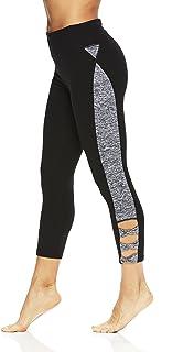 Gaiam Women's Capri Yoga Pants - Performance Spandex Compression Legging - Black Twist, X-Small