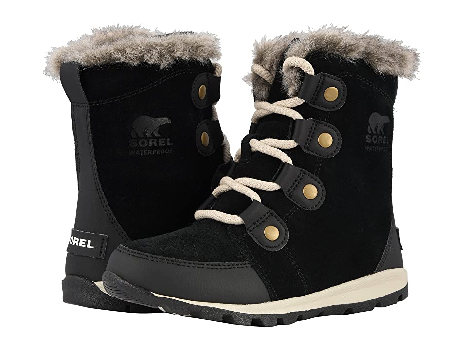 SOREL Kids Whitneytm Suede (Little Kid/Big Kid) (Black/Dark Stone) Girls Shoes