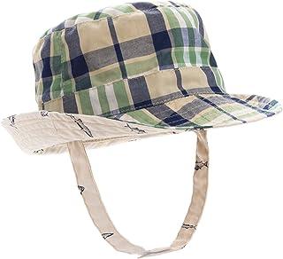 ERISO Baby Toddler Plaid Bucket Reversible Sun Protection Animal Hat