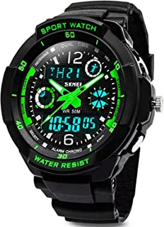 KIDPER Kids Sports Digital Watch - Boys Analog Waterproof...