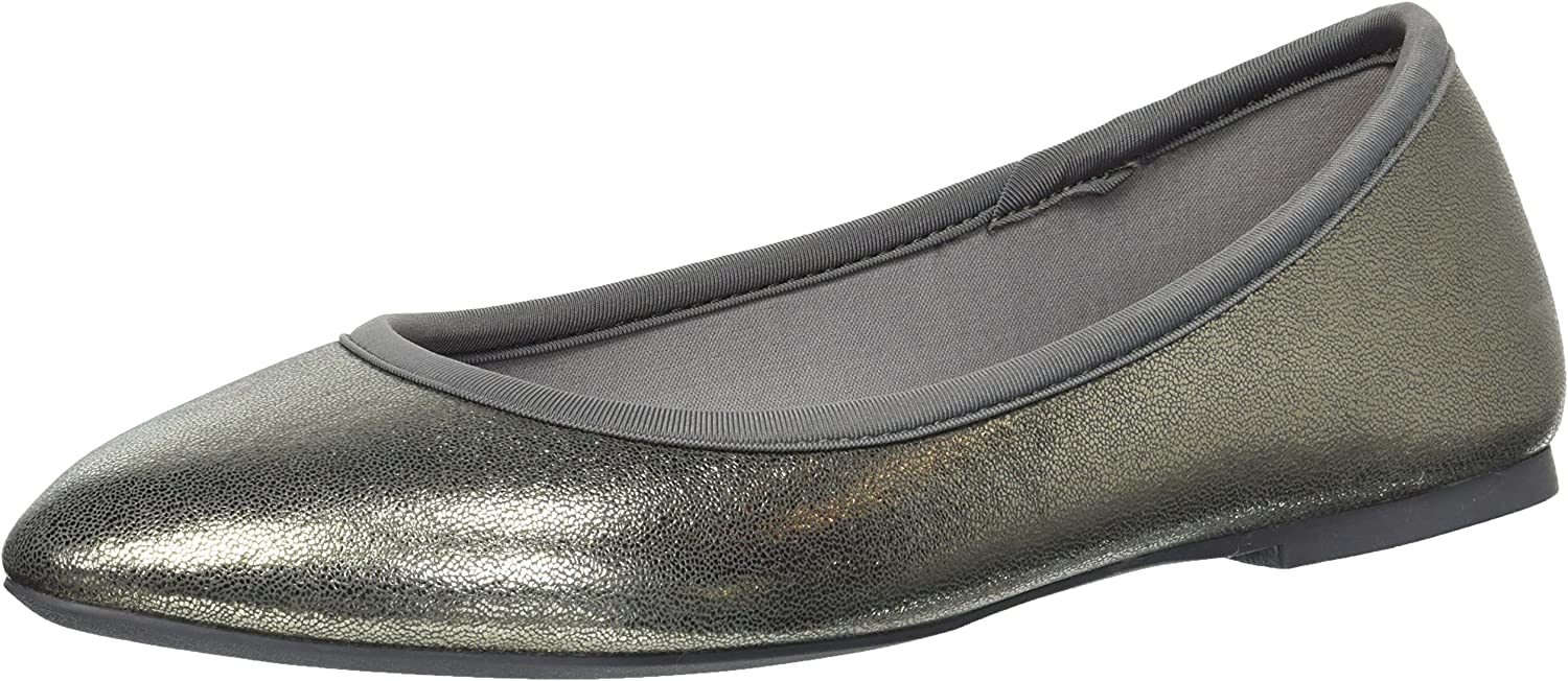 Skechers Women's Cleo-Dazzles-Stretch-Fit Metallic Skimmer Ballet Flat
