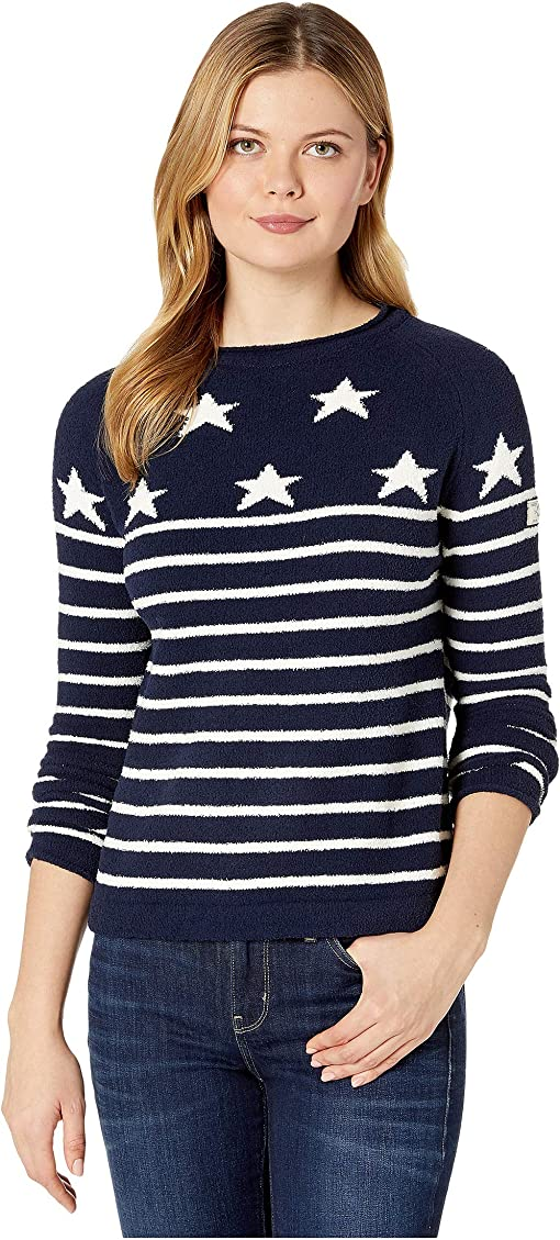 Navy Cream Star