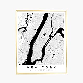 New York City Map - 16 x 20 in