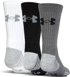 Under Armour Youth Heatgear Tech Crew Socks, 3-Pairs