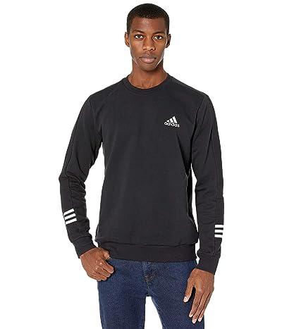 adidas Elevated Comfy Fleece Crew (Black/White) Men