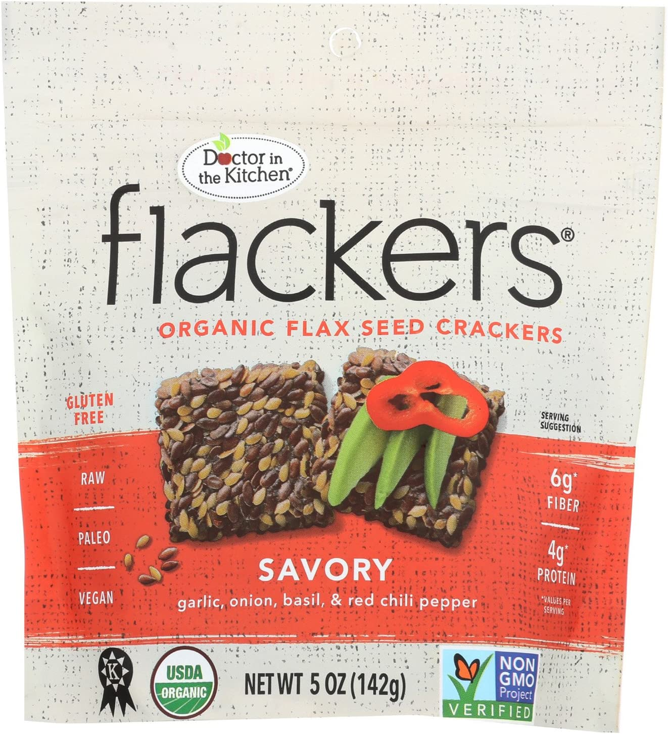 Dr. In The Topics on TV Kitchen National uniform free shipping Flackers Organic Crackers Seed Savory Flax -