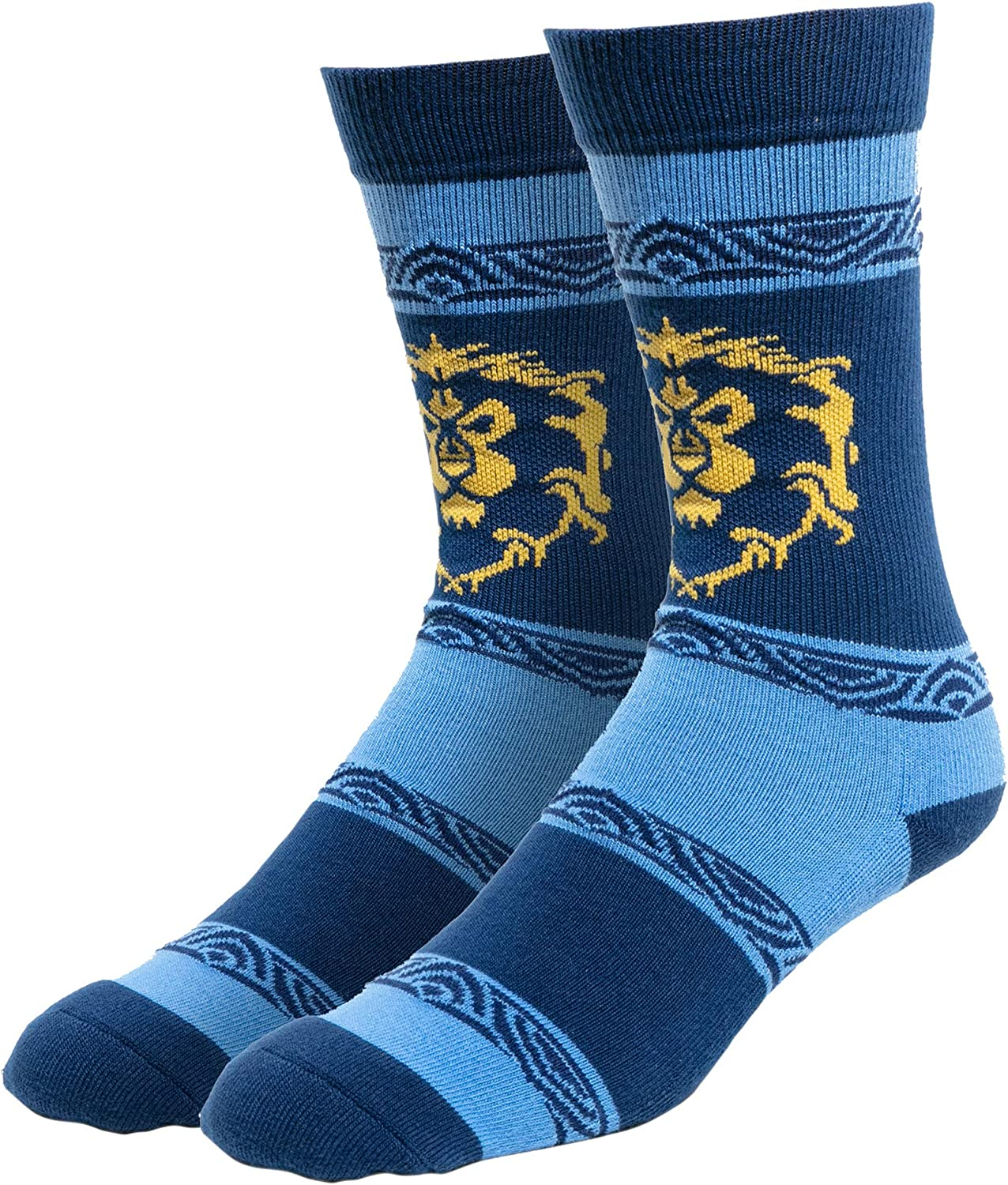 JINX World of Warcraft Casual Alliance Embroidered Athletic Crew Socks, 1 Pair