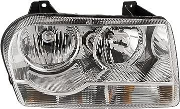 HEADLIGHTSDEPOT Headlights Halogen Chrome Housing Compatible with Chrysler 300 V6 Straight Bottom 2005-2009 (Passenger)