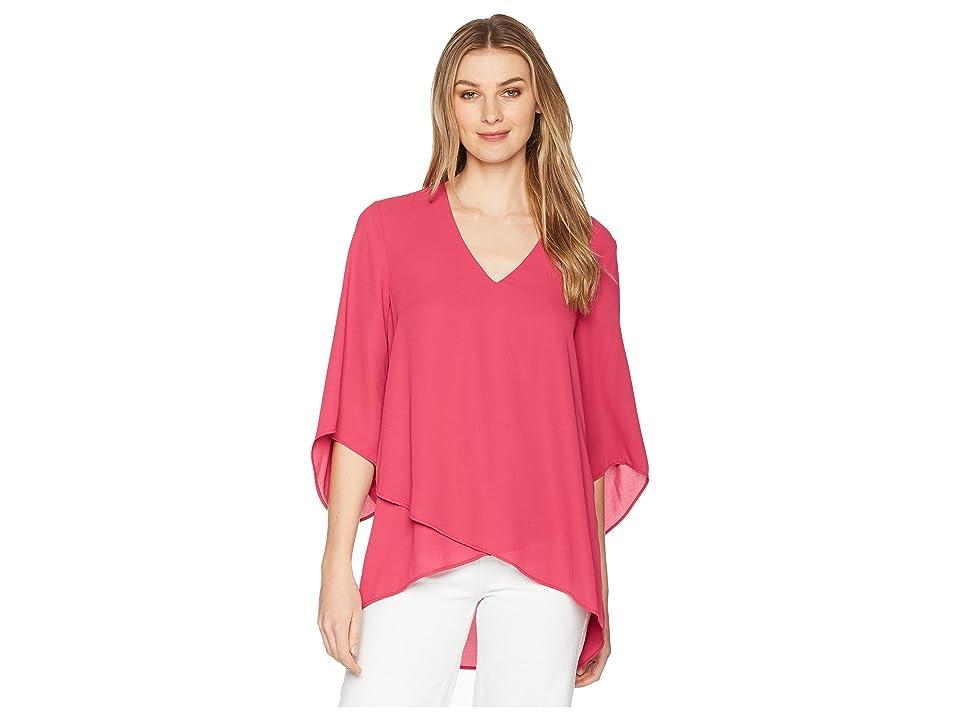 Karen Kane Bracelet Sleeve Asymmetric Top (Pink) Women