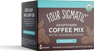Adaptogen Coffee by Four Sigmatic, Organic Medium Roast Instant Coffee with Ashwagandha, Chaga & Tulsi, Immune Support & S...