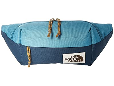 The North Face Lumbar Pack (Storm Blue Dark Heather/Blue Wing Teal) Travel Pouch