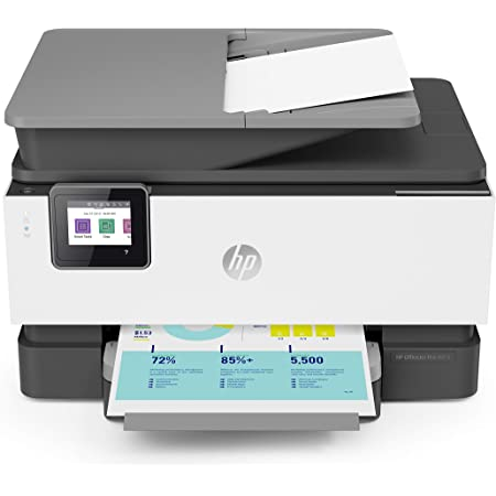 HP OfficeJet Pro 9015 All-in-One Wireless Printer with Smart Tasks for Smart Office Productivity, 1KR42A (Renewed)