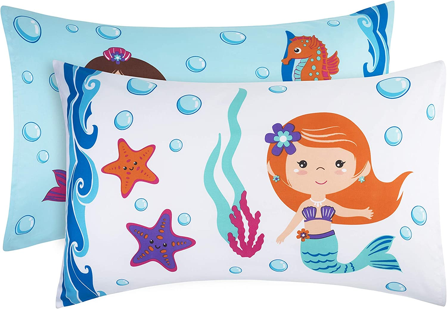 EVERYDAY KIDS Mermaid 2 Pack Lowest price challenge Pillowcase Breathable Mi Max 42% OFF Soft - Set