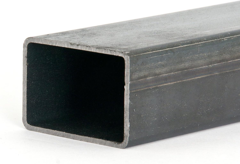 B/&T Metall Stahl Rechteckrohr 50 x 30 x 3,0 mm in L/ängen /à 1000 mm 0//-3 mm Flachkantrohr ST37 schwarz roh Hohlprofil Rohstahl