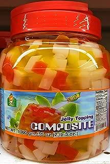 Rainbow Jelly Topping Composite for Bubble Boba Milk Tea 2lb 3oz Fat Free Fruit Konjac