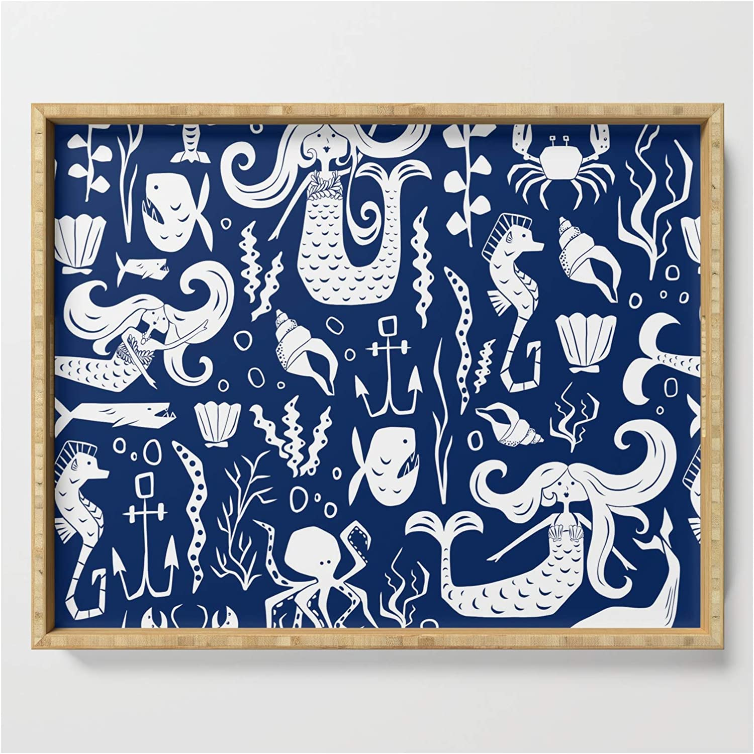 Under The Sea Navy Blue by Product Heather - Dutton free shipping Tray 22.5 on Serving