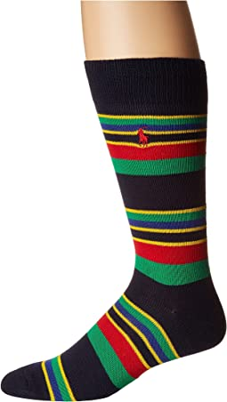 1-Pack Multicolor Stripes Slack Crew