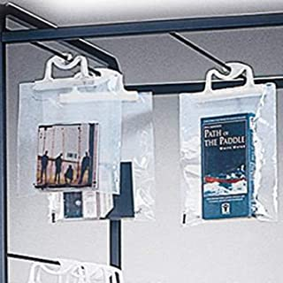 School Specialty Medium Hang-Up Bag with Handle, 12-1/4 X 14-1/2 in, Pack of 10, Clear (B6)