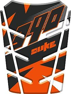 Adesivi per moto Moto 3D Duke Logo arancione copertura del serbatoio di protezione del rilievo della decalcomania for KTM Duke 125 200 390 690 990 1290 NUOVO