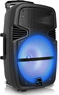 $119 » Sponsored Ad - Technical Pro 3000 Watts Rechargeable 15 Inch Bluetooth LED Portable PA Speaker, with Built-in LCD Screen, ...