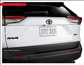 Genuine Toyota 2019 & Newer RAV4 Hybrid Limited Black Blackout Emblem Overlay Kit PT948-42199-02