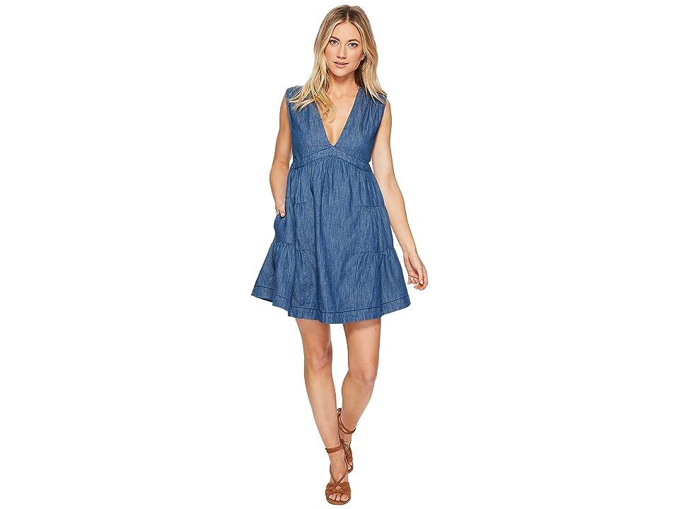 Free People Esme Denim Mini Dress (Blue) Women