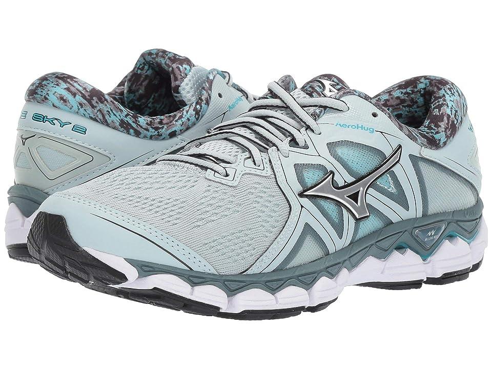 7f207ec6fdcd Mizuno Wave Sky 2 (Sky Gray/Silver) Girls Shoes