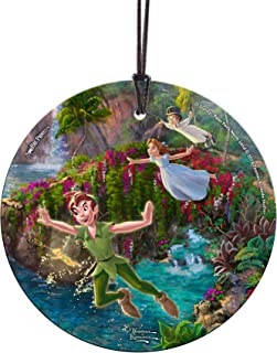 Trend Setters Disney Peter Pan - Peter Wendy and John Starfire Prints Hanging Glass