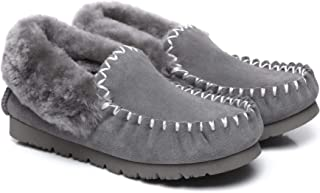 UGG Slippers Women Australian Premium Soft Sheepskin Wool Winter Home Cozy Slippers Popo Moccasin Shoes