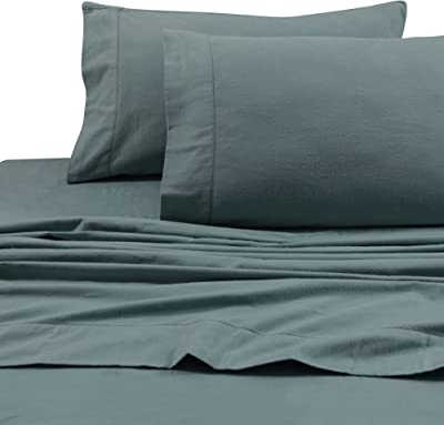 Tribeca Living 1TL200HSPCSTAQ Super Soft Heavyweight Flannel 200-GSM Pillowcases, Standard, Aqua