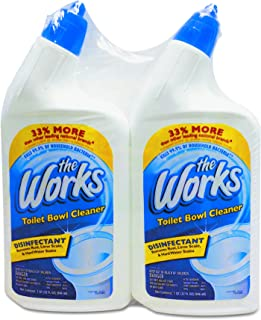 The Works 33302WKCT Disinfectant Toilet Bowl Cleaner, 32 oz Spray Bottle, 2 per Pack (Case of 6 Packs)