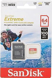 comprar comparacion SanDisk Extreme - Tarjeta de memoria 64GB microSDXC para móvil, tablets y cámaras MIL + adaptador SD + Rescue Pro Deluxe, ...