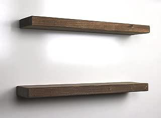 SOLID RUSTICS Floating Shelf (Walnut, 18